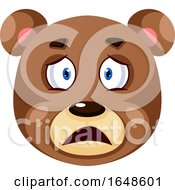Bear Is Feeling Upset Illustration Vector On White Background by Morphart Creations