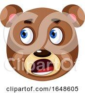Bear Is Feeling Worried Illustration Vector On White Background