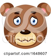 Bear Is Feeling Sick Illustration Vector On White Background by Morphart Creations
