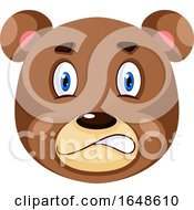 Bear Is Feeling Nervous Illustration Vector On White Background
