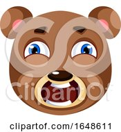 Bear Is Feeling Frightened Illustration Vector On White Background by Morphart Creations