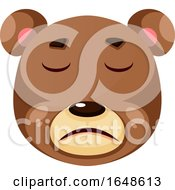 Bear Is Feeling Suffer Illustration Vector On White Background
