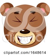 Bear Is Laughing Illustration Vector On White Background