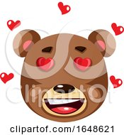 Poster, Art Print Of Bear Is Feeling In Love Illustration Vector On White Background