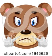 Bear Is Feeling Frustrated Illustration Vector On White Background