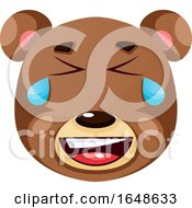 Bear Is Crying Of Happiness Illustration Vector On White Background