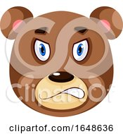 Bear Is Feeling Angry Illustration Vector On White Background