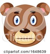 Bear Is Silent Illustration Vector On White Background