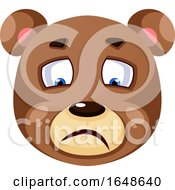 Bear Is Feeling Sad Illustration Vector On White Background by Morphart Creations