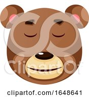 Bear Is Feeling Calm Illustration Vector On White Background