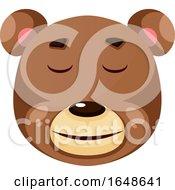 Bear Is Feeling Calm Illustration Vector On White Background by Morphart Creations