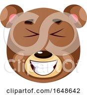 Bear Is Feeling Joyful Illustration Vector On White Background by Morphart Creations