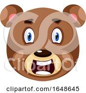 Bear Is Feeling Shocked Illustration Vector On White Background by Morphart Creations