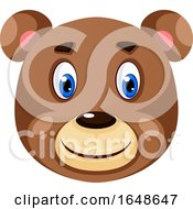 Happy Little Bear Illustration Vector On White Background by Morphart Creations