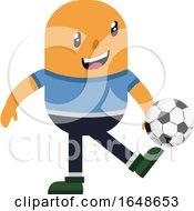 Man Kicking Football by Morphart Creations
