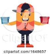 Man With Hat Holding Small Boxes