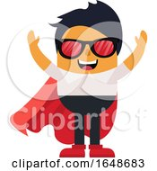 Man With Cape And Glasses
