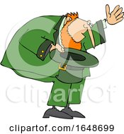 Poster, Art Print Of Cartoon Leprechaun Bowing With His Hat Off