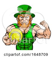 Leprechaun Holding Tennis Ball Sports Mascot