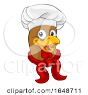 Poster, Art Print Of Chicken Chef Rooster Cockerel Cartoon Character