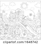 Poster, Art Print Of Black And White Kids Playing At A Playground