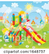 Poster, Art Print Of Kids Playing At A Playground