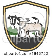 Poster, Art Print Of Cow And Calf
