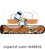 Cigar And Lighter