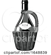 Black And White Wine Bottle by Vector Tradition SM