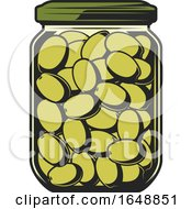 Jar Of Green Olives