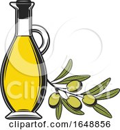 Green Olive And Oil Design