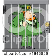 Cartoon Leprechaun In Jail