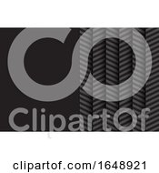 Poster, Art Print Of Chevron Pattern Business Card Background