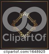 Elegant Gold And Black Background Design