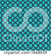 Abstract Pattern Background In Bright Teal Colour