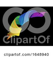 Poster, Art Print Of 3d Abstract Paint Stroke