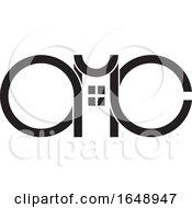 Black And White AMC Letter Design