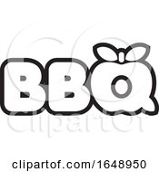 Black And White BBQ Icon