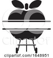 Black And White Apple BBQ Grill Icon