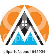 Letter M House Mountain Icon