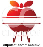 Red Apple BBQ Grill Icon