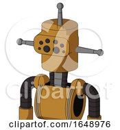 Yellowish Droid With Cylinder Head And Bug Eyes And Single Antenna