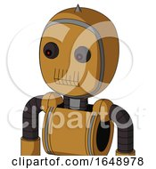 Yellowish Droid With Bubble Head And Toothy Mouth And Red Eyed And Spike Tip