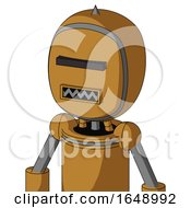 Yellowish Droid With Bubble Head And Square Mouth And Black Visor Cyclops And Spike Tip