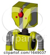 Yellow Robot With Mechanical Head And Cyclops Compound Eyes
