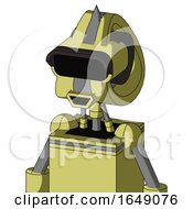 Yellow Robot With Droid Head And Happy Mouth And Black Visor Eye And Spike Tip