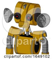 Yellow Droid With Multi Toroid Head And Toothy Mouth And Black Glowing Red Eyes