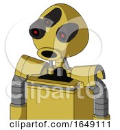 Yellow Droid With Rounded Head And Round Mouth And Three Eyed
