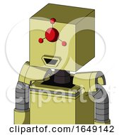 Yellow Robot With Box Head And Happy Mouth And Cyclops Compound Eyes