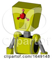 Yellow Robot With Box Head And Speakers Mouth And Cyclops Compound Eyes
